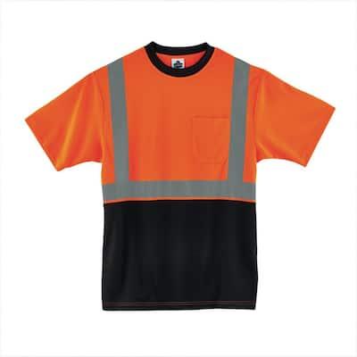 X-Large Hi Vis Orange Black Front T-Shirt