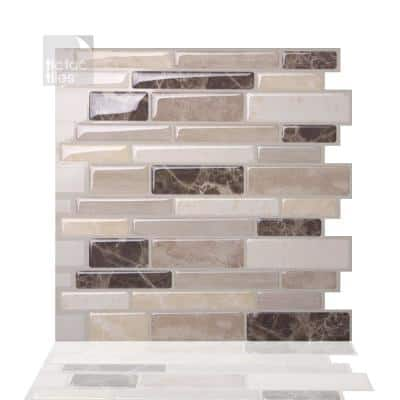 Polito Bella 10 in. W x 10 in. H Peel and Stick Self-Adhesive Decorative Mosaic Wall Tile Backsplash (5-Tiles)