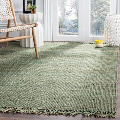Natural Fiber Green 8 ft. x 10 ft. Solid Area Rug