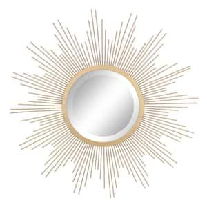 Medium Irregular Gold Contemporary Mirror (23 in. H x 23 in. W)