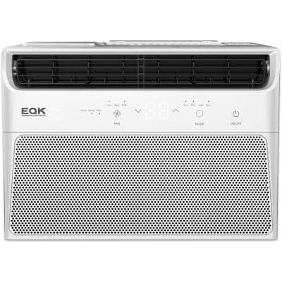 Quiet Kool 350 sq ft 8000 BTU Window Air Conditioner 115V Energy Star with Remote Control, EARC8RE1H in White