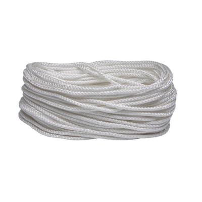 3/16 in. x 100 ft. White Polypropylene Diamond Braid Rope
