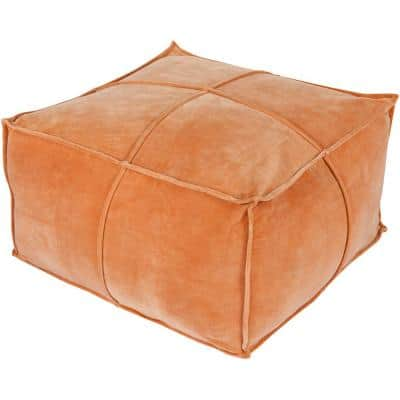 Belinda Burnt Orange Accent Pouf
