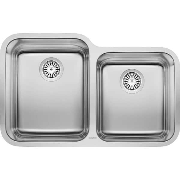 Blanco Stellar Undermount Stainless Steel 32 In 60 40 Double Bowl Kitchen Sink 441023 The Home Depot