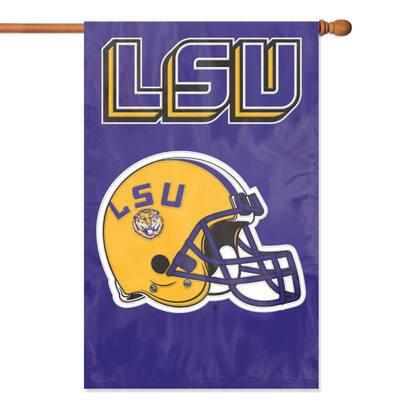 LSU Tigers Applique Banner Flag