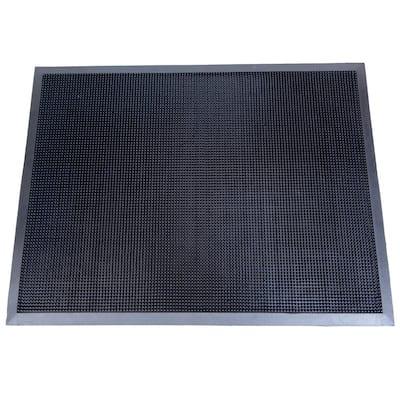 Fingertip Black 24 in. x 32 in. Rubber Door Mat