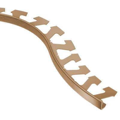 Jolly Brushed Copper Anodized Aluminum 3/8 in. x 8 ft. 2-1/2 in. Metal Radius Tile Edging Trim