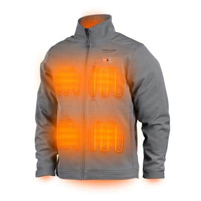 Men's 2X-Large M12 12V Lithium-Ion Cordless TOUGHSHELL Gray Heated Jacket with (1) 3.0 Ah Battery and Charger