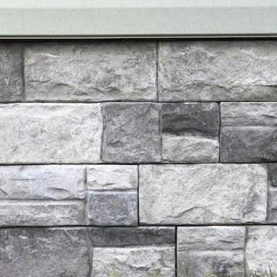 Shadowledge Slate 23.5 in. x 6 in. Stone Veneer Siding (Flats)