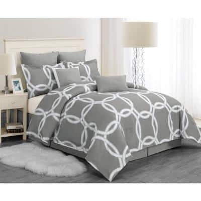 Redington 8-Piece Silver Queen Comforter Set
