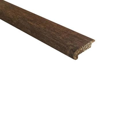 Strand Woven Bamboo Barrington .438 in. Thick x 2.17 in. Wide x 72 in. Length Bamboo Overlap Stair Nose Molding