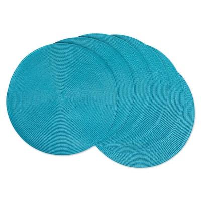 Aqua Round Woven Placemat (Set of 6)
