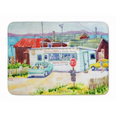 19 in. x 27 in. Seafood Shack for Fresh Shrimp Machine Washable Memory Foam Mat