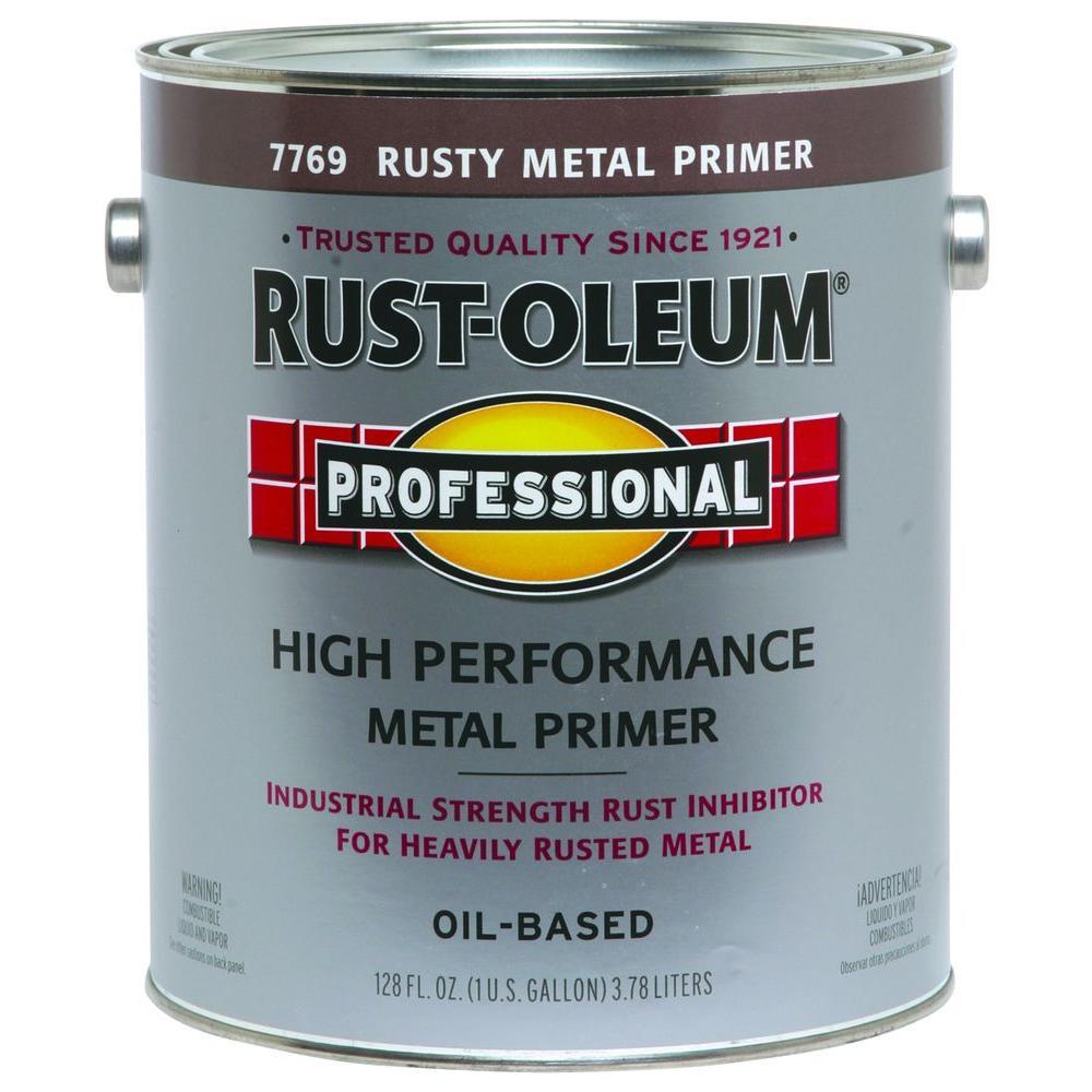 1 gal. High Performance Flat Rusty Metal Oil-Based Rust Preventive Primer (2-Pack)