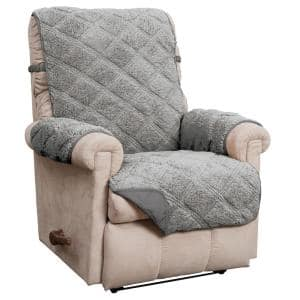 Hudson Grey Waterproof Recliner Furniture Cover