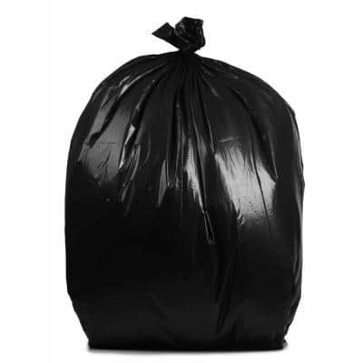 50 Gal. to 60 Gal. 4 mil 38 in. W x 58 in. H Contractor Black Bags (32- Count, 78-Cases Per Pallet)