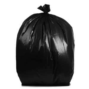 61 in. W x 68 in. H. 95 Gal. 3 mil Black Contractor Bags (20-Count)
