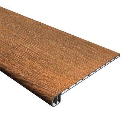 Vinyl Pro Classic Saddlewood 1 in. T x 11-1/2 in. W x 48-5/16 in. L Vinyl Stair Tread