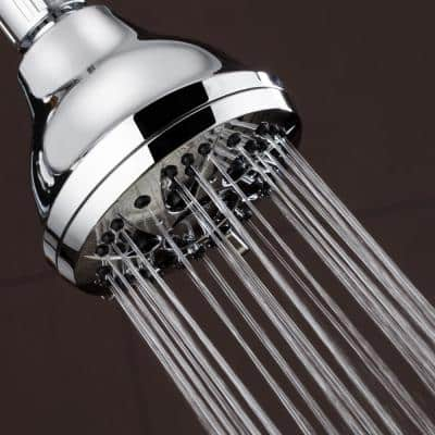 6-Spray 4 in. Single Wall Mount Body spray Fixed Adjustable Shower Head in Chrome