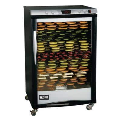 Pro-2400 24-Tray Black Food Dehydrator with Temperature Control