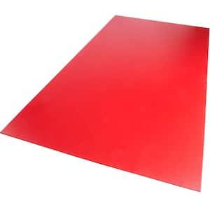 24 in. x 48 in. x 0.118 in. Foam PVC Red Sheet