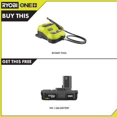 ONE+ 18V Cordless Rotary Tool with 1.5 Ah Compact Lithium-Ion Battery