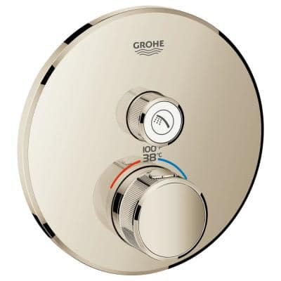 Grohtherm Smart Control Single Function Thermostatic Trim with Control Module in Polished Nickel (Valve Not Included)