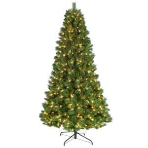 7.5 ft. Pre-Lit Pinehurst Artificial Christmas Tree with 650 UL-Listed Clear Lights