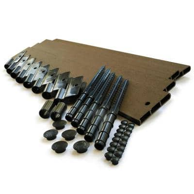 1 in. Series 16 ft. Uptown Brown Composite Straight Landscape Edging Kit