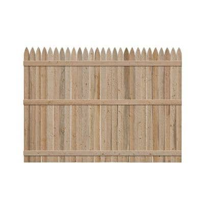 6 ft. H x 8 ft. W Spruce Pine Fir Gothic Fence Panel