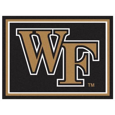 NCAA - Wake Forest University Black 10 ft. x 8 ft. Indoor Rectangle Area Rug