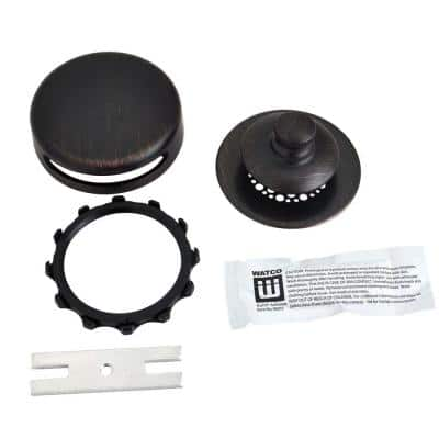Universal NuFit Push Pull Bathtub Stopper with Grid Strainer, Innovator Overflow and Silicone, Oil-Rubbed Bronze