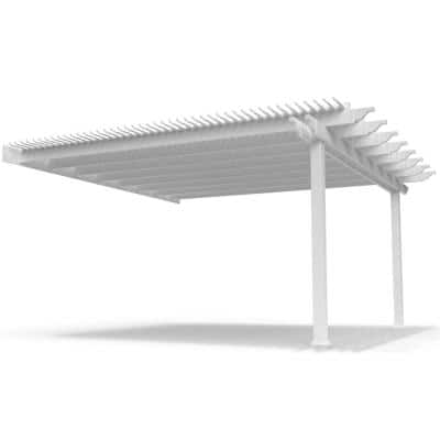 Modern Pergola-Kit Traditional 16 Ft. x 16 Ft. Attached Pergola with 5 In. Square Posts