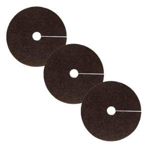 24 in. Brown Recycled Rubber Tree Ring (3-Pack)