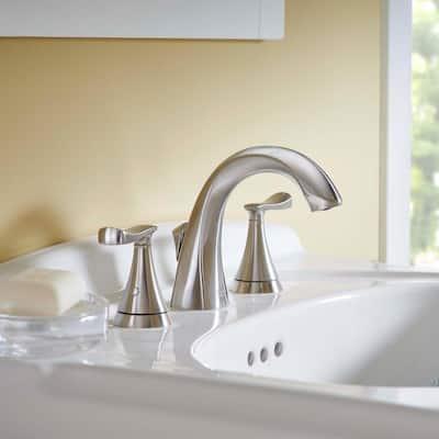 Chatfield 8 in. Widespread 2-Handle Bathroom Faucet in Brushed Nickel