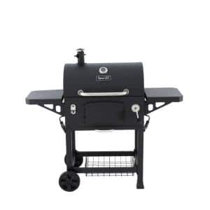 Heavy-Duty Large Charcoal Grill in Black