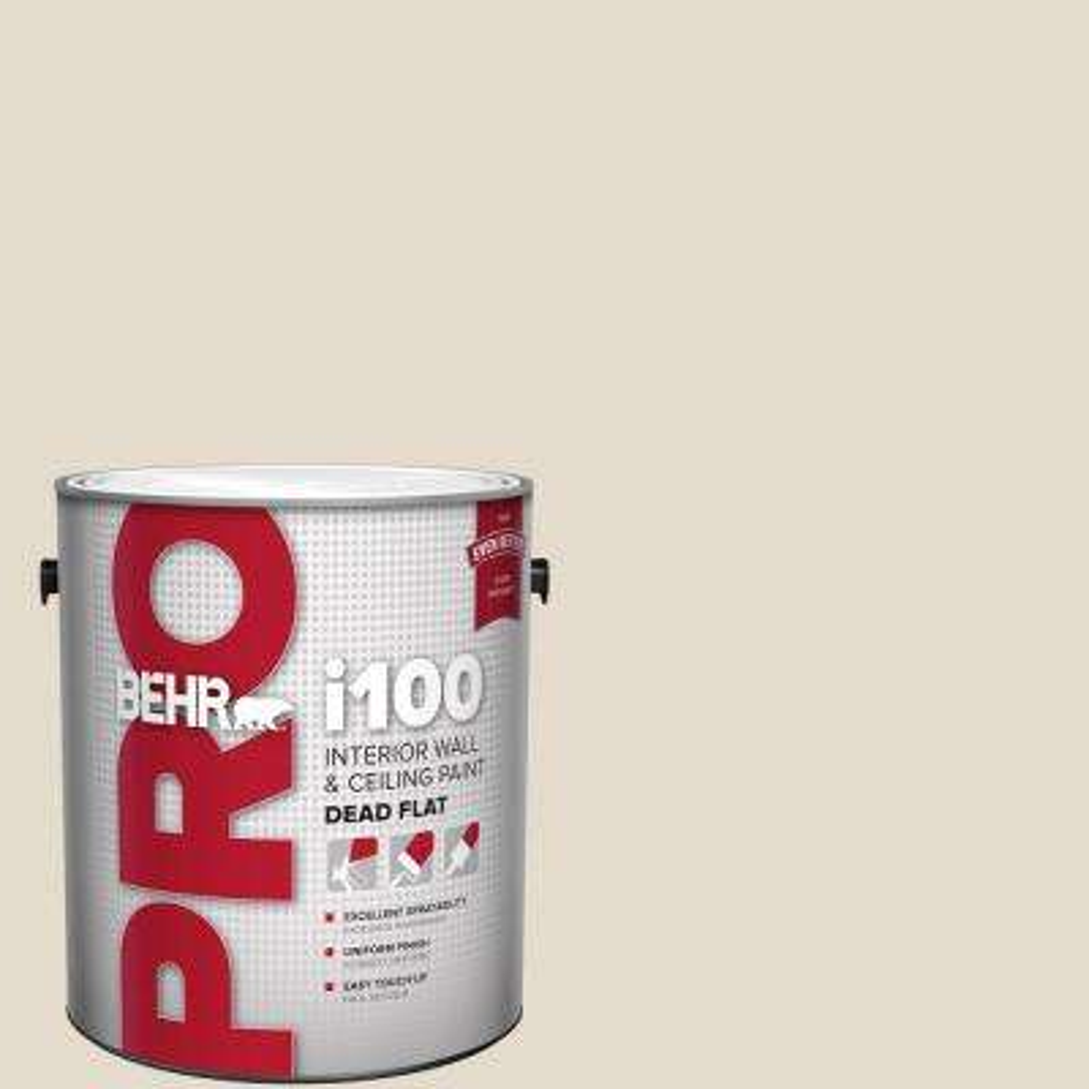 Behr Pro 1 Gal W B 720 Oyster Dead Flat Interior Paint Pr10501 The Home Depot