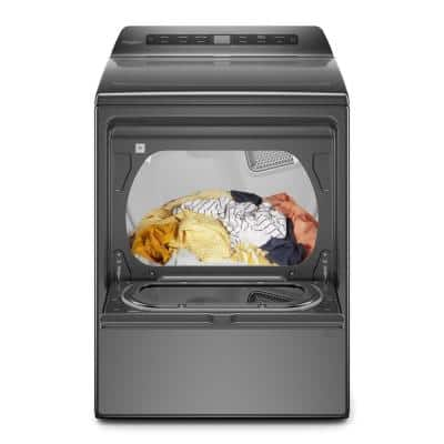 7.4 cu. ft. Chrome Shadow Gas Vented Dryer with Wrinkle Shield