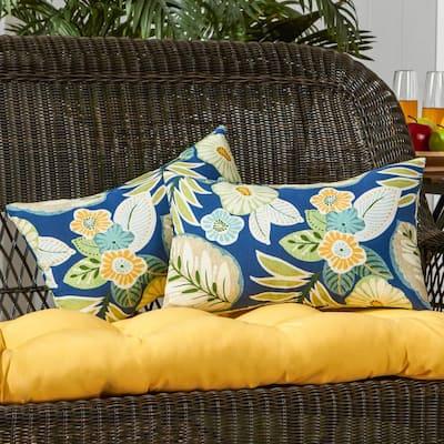 Marlow Floral Lumbar Outdoor Throw Pillow (2-Pack)