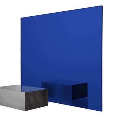 24 in. x 48 in. x 0.118 in. Blue Acrylic Mirror