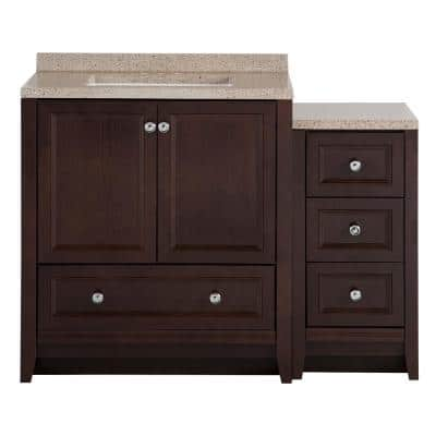 Delridge Bath Suite with 31 in. W Bathroom Vanity, Vanity Top, and Linen Tower in Chocolate