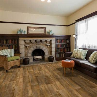 Aged Birch Wood Residential/Light Commercial Vinyl Sheet Flooring 12ft. Wide x Cut to Length