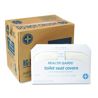 Health Gards White Half-Fold Toilet Seat Covers (250-Pack, 20-Packs per Carton)