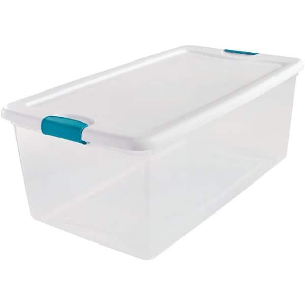 Sterilite 106 Qt Latching Storage Box 14998004 The Home Depot