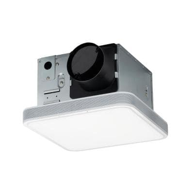 110 CFM LED Ceiling Mounted Bathroom Exhaust Fan with Alexa Voice Assistant and Bluetooth Speakers