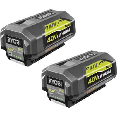 40-Volt Lithium-Ion 5.0 Ah High Capacity Battery (2-Pack)