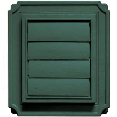 Scalloped Exhaust Siding Vent #028-Forest Green