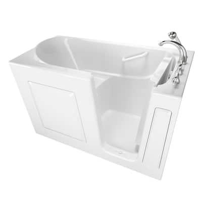 Value Series 60 in. Right Hand Walk-In Air Bath Bathtub in White