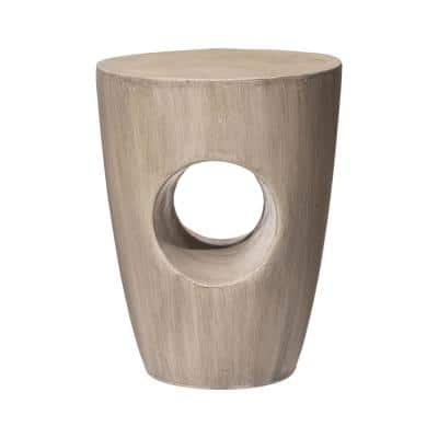18 in. H Multi-Functional MGO Faux Concrete Garden Stool or Plant Stand or Accent Table