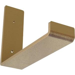 2 in. x 6 in. x 8 in. Hammered Gold Steel Hanging Shelf Bracket